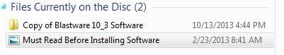 Blastware Installation Folder