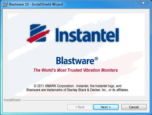 Blastware Installation Wizard