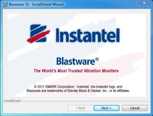 Blastware Installation Wizard