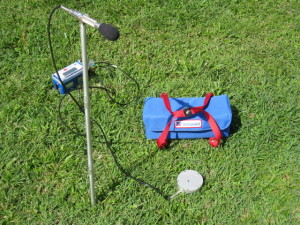 Ground Vibration Monitor Geophone and Microphone Installation