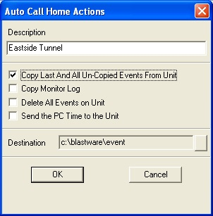 Auto Call Home PC Actions