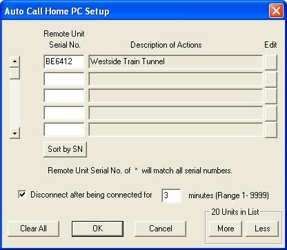 Auto Call Home PC Setup
