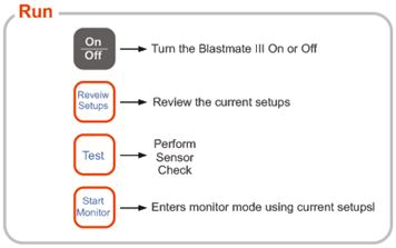 Blastmate III Run Keys
