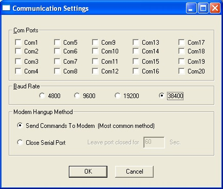 Communications Settings Auto Call Home
